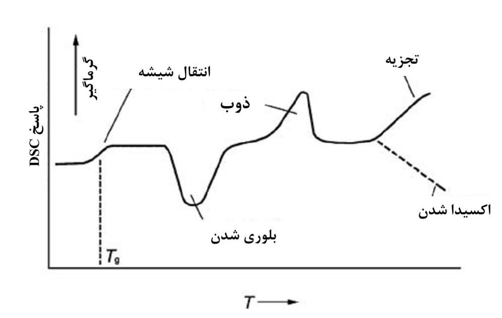 تحلیل و تفسیر آنالیز حرارتی روبشی افتراقی