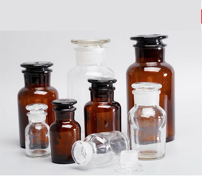 ظروف شیشه ای نگهدارنده مواد شیمیایی