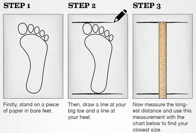 روش اندازه گیری سایز پا برای کفش های ایمنی