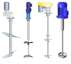انواع همزن مکانیکی براساس نوع پره به کار رفته در آن