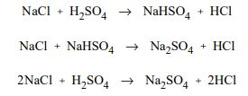 reaction of NaCl with H2So4